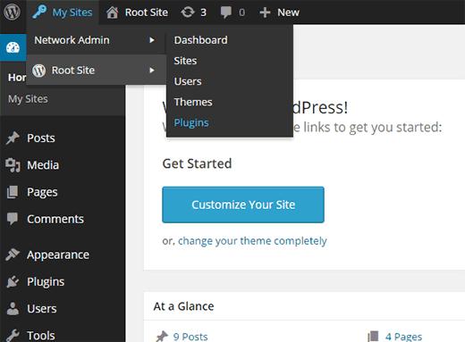 Agregar un nuevo complemento en una red multisitio de WordPress