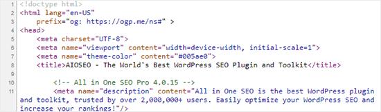 Metainformación agregada por los complementos de WordPress