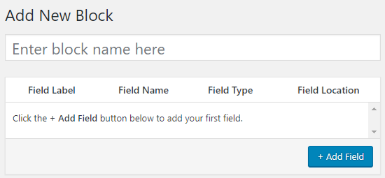 Ingrese el nombre del bloque personalizado