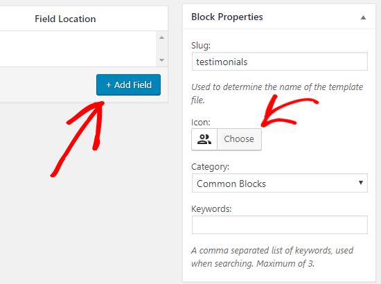 Propiedades de bloque personalizadas