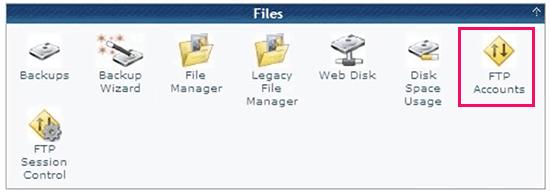 Administrar cuentas FTP dentro de cPanel