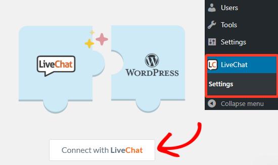 Conéctese con la cuenta de LiveChat Inc