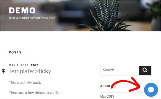 LiveChat agregado al sitio de WordPress