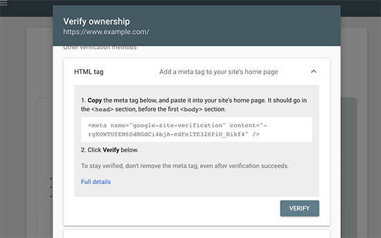 Copia la etiqueta HTML
