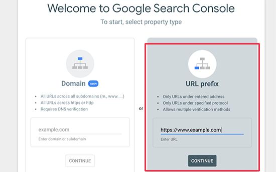 Agregar URL del sitio web