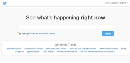 Uso de la búsqueda de Twitter para encontrar ideas para publicaciones