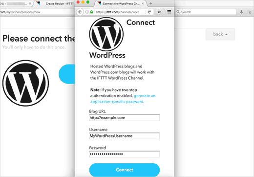 Conectando su sitio de WordPress a IFTTT