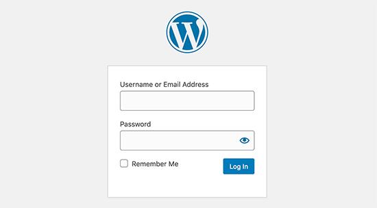 Página de inicio de sesión de WordPress