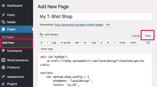 Creando tu página de tienda de camisetas en WordPress
