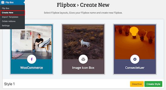 Crear una nueva flipbox