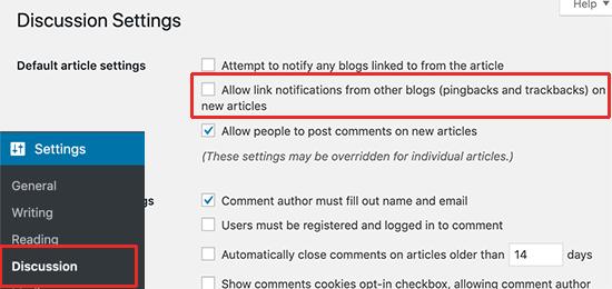 Deshabilitar trackbacks en WordPress