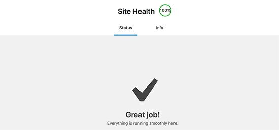 Obtener una puntuación perfecta en la salud del sitio de WordPress