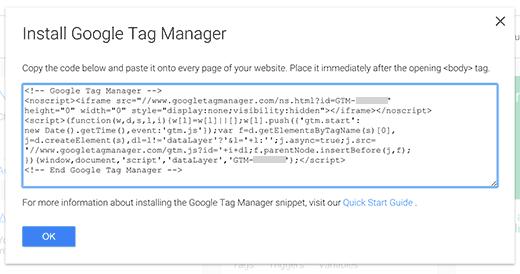 Código del administrador de etiquetas