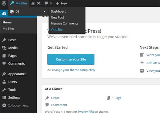 Sin página de complementos para un subsitio en un multisitio de WordPress