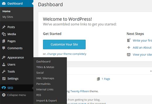 Configuración de WordPress SEO en un subsitio de una red multisitio