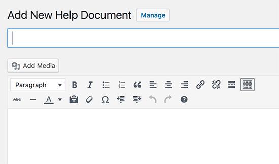 Nuevo documento de ayuda