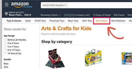 Ordenar productos por más vendidos