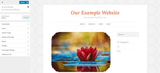 El personalizador de temas en WordPress