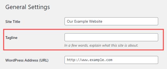 Eliminar el eslogan por completo en WordPress