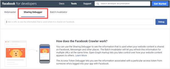 La herramienta de depuración de uso compartido de Facebook