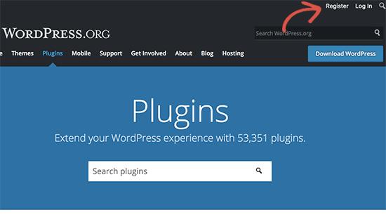 Regístrese para obtener una cuenta gratuita de WordPress.org