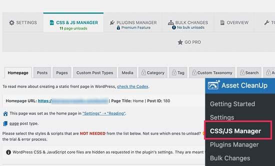 Administrador de CSS / JS
