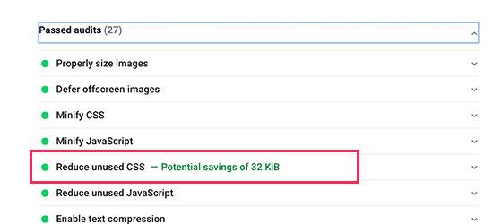 CSS reducido en WordPress