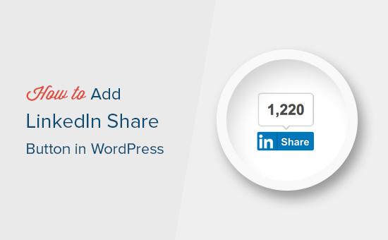 Adding LinkedIn share button in WordPress