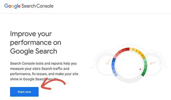 Inicie la Consola de búsqueda de Google
