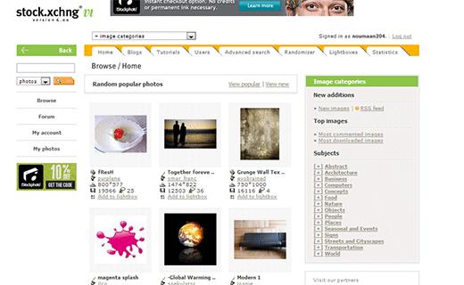 stock-xchng sitio web de fotografía de stock gratis